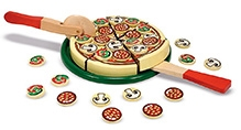 Melissa & Doug Wooden Pizza Party Set