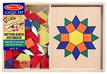 Melissa & Doug Wooden Pattern Blocks And Boards Game