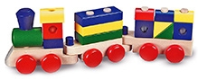 Melissa & Doug Wooden Stacking Train -15 Blocks