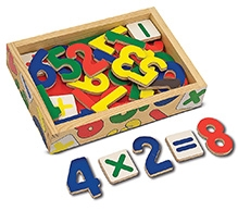 Melissa & Doug Magnetic Wooden Number