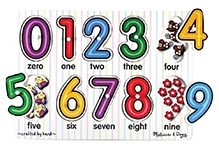 Melissa And Doug See Inside Numbers Peg Puzzle - Set of 10 Pieces