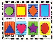 Melissa And Doug Shapes Chunky Puzzle - Set of 8 Pieces