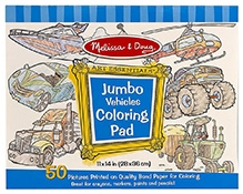 Melissa & Doug Vehicles Coloring Pad - English