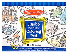 Melissa And Doug Jumbo Coloring Pad - Blue