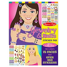 Melissa And Doug Jewellery And Nails Glitter Collection Sticker Pad
