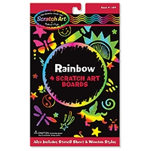 Melissa And Doug Rainbow Scratch Art Boards - 4 Pieces