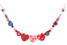 Melissa And Doug Sweet Hearts Wooden Beads Set