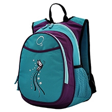 O3 Kids Turquoise Butterfly Backpack With Snack Cooler - 14.5 Inches