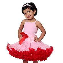 Tutu Couture Light Pink with Red Tutu Skirt
