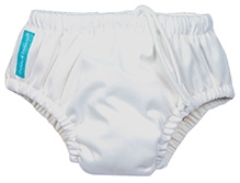 Charlie Banana 2-in-1 Swim Diaper N Training Pants Small - White