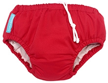 Charlie Banana 2-in-1 Swim Diaper N Training Pants Small - Red