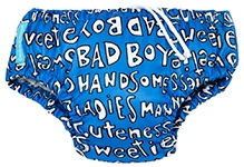 Charlie Banana 2-in-1 Swim Diaper N Training Pants Medium Blue - Handsome Print