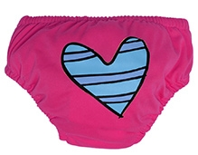Charlie Banana Swim Diaper And Training Pant Blue Petit Coeur Pink - Medium
