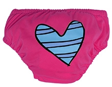 Charlie Banana Swim Diaper And Training Pant Blue Petit Coeur Pink - Large