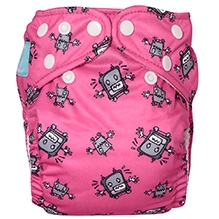 Charlie Banana Robot Girl Bellywrap Reusable Diaper with 2 Inserts