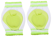 Fab N Funky Baby Knee Pad with Apple Shape - Green
