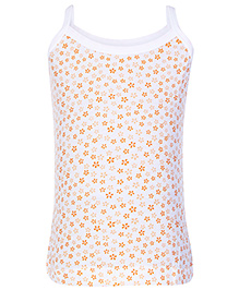 Bodycare Singlet Slip Flower Print - Orange and White