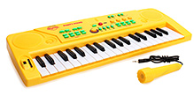 Mitashi Sky Kidz Party Piano with Microphones - Yellow