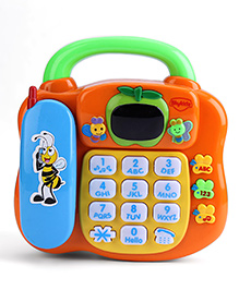 Mitashi Sky Kidz Learning Multicolor Phone 28.5 x 24.5 x 9 cm, Learning phone comes with a detachable phone receiver