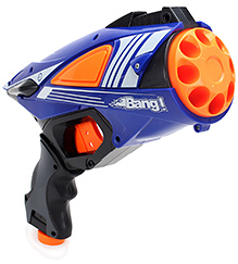 Mitashi Bang Vulture Gun With Darts - Blue - 28.5 X 23 X 10.5 Cm