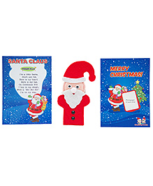 Creativity 4 Tots Santa Claus Finger Puppet - Red And White