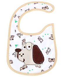 Carter's Baby Bib - White And Brown