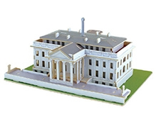 Robotime 3D Wooden White House Puzzle - 73 Pieces