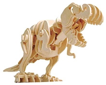 Robotime 3D Wooden Battery Operated Robotic Puzzle - T-Rex