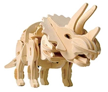 Robotime 3D Wooden Battery Operated Robotic Puzzle - Tirceratops