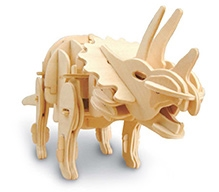 Robotime 3D Wooden Battery Operated Robotic Puzzle - Triceratops