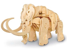 Robotime 3D Wooden Battery Operated Robotic Puzzle - Mammoth