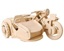 Robotime 3D Wooden Battery Operated Puzzle - Tricycle