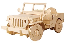 Robotime 3D Wooden Battery Operated Puzzle - Jeep