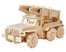 Robotime 3D Wooden Battery Operated Puzzle - Missile Truck
