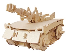 Robotime 3D Wooden Battery Operated  Puzzle - Tank