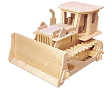 Robotime 3D Wooden Battery Operated  Puzzle - Bulldozer