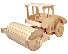 Robotime 3D Wooden Battery Operated Puzzle - Road Roller