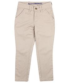 Giny & Jony Plain Fixed Waist Trouser - Khaki