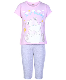 Fido Short Sleeves T-Shirt And Legging Pink - Sweet Dreams Print