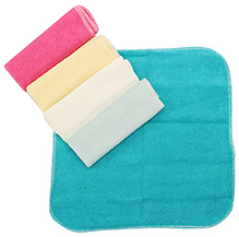 Carters Multicolor Baby Wash Cloth - Pack Of 5 Pieces