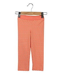 Beebay Polka Dot Three Fourth Legging - Peach