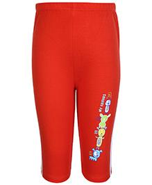Tango Track Pant with Teddy Print - Orange