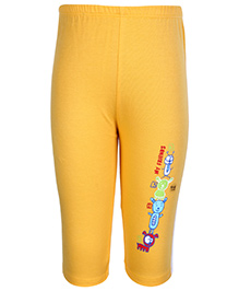 Tango  Track Pant with Teddy Print - Yellow