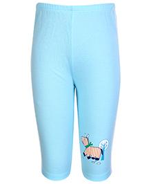 Tango Track Pant Light Blue - Horse Print