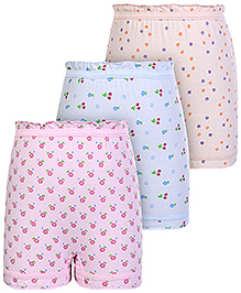 Bodycare Flower Printed Bloomers - Set Of 3