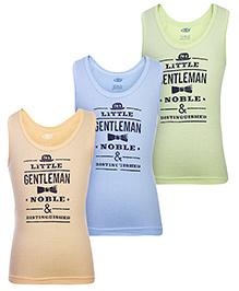 Zero Sleeveless Printed Vests - Set Of 3