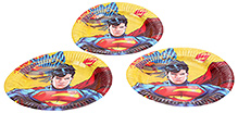 Superman Paper Plate 9 Inches - Set Of 10