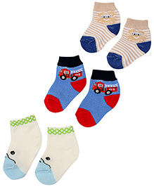 Carters Ankle Length Printed Socks - Set Of 3