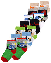 Carters Ankle Length Printed Socks - Set of 7