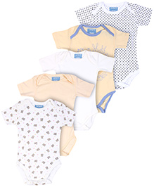 Carters Short Sleeves Onesies - Set Of 5